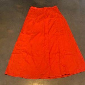 LIKE NEW LOFT Pintuck Lined Maxi Skirt